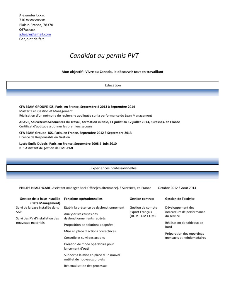 modele cv oenologue