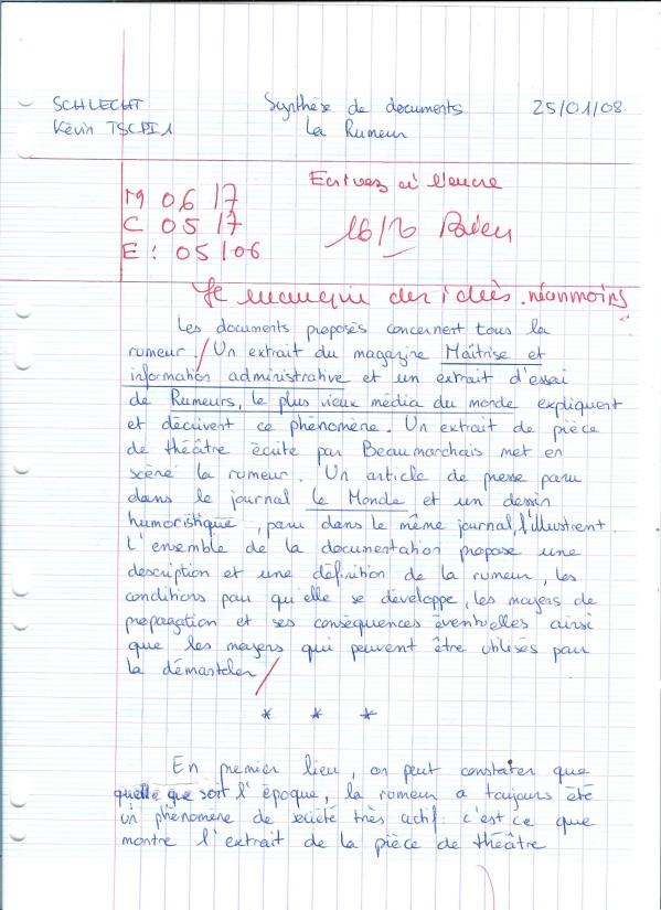 exemple de synthese bts francais
