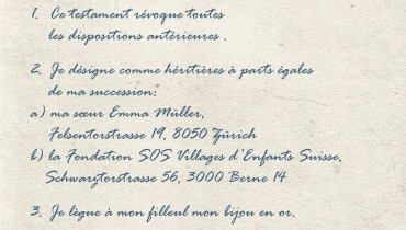 exemple de testament olographe suisse
