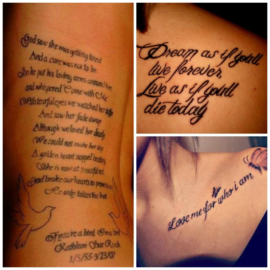 Цитаты для татуировок для девушек