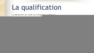 exemple de qualification juridique