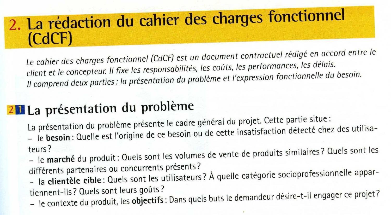 Exemple de projet professionnel master - Cahier des charges definition ...