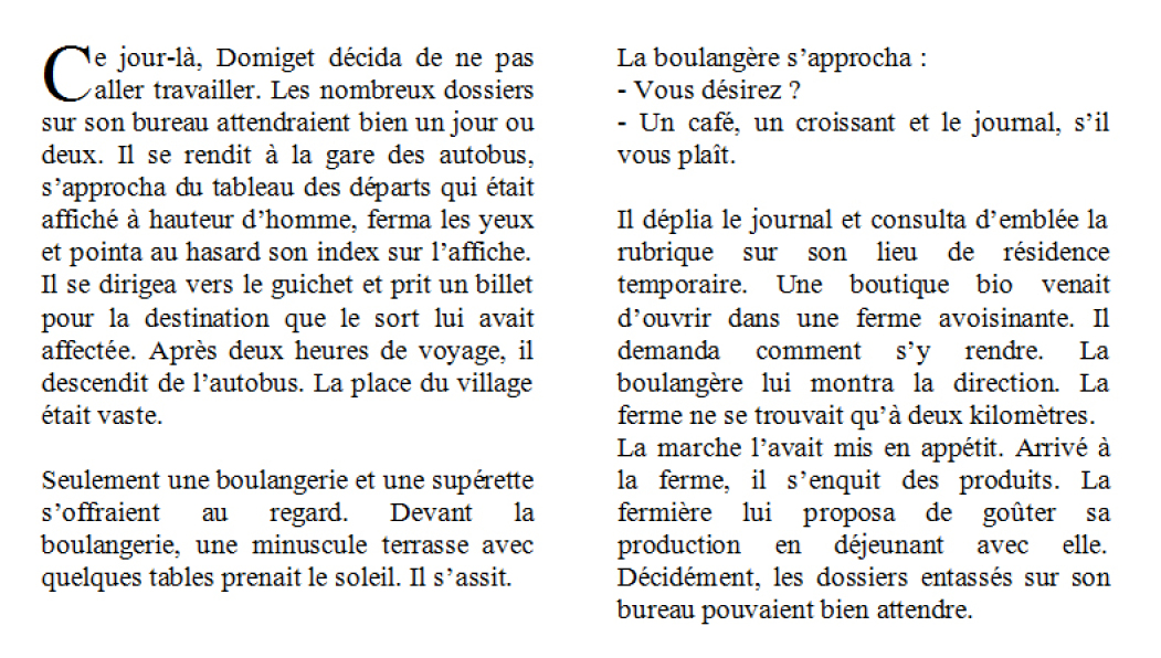 exemple d un texte narratif