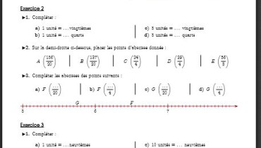 exemple de fraction