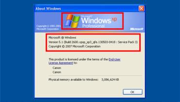 exemple de windows xp
